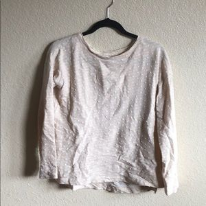 Lou and Grey lightweight sweater size S polka dots
